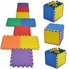 Children 50Pcs 30x30CM Multicolour Interlocking EVA Foam PlayMat Floor Tiles Set
