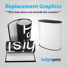 Pop up Counter Replacement Graphic Wrap - Exhibition Display - Printed