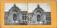 Parigi Entrée Del Piccolo Palais Foto Pl36 Stereo Vintage Analogica c1900