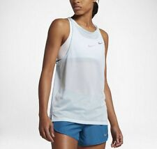 NIKE BREATHE WOMEN'S RUNNING TANK 831778 411 Sz Medium Light Blue $50