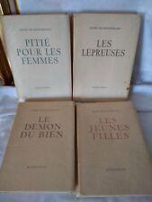 HENRY DE MONTHERLANT - LES JEUNES FILLES COFFRET DE 4 TITRES 1947 N°2602