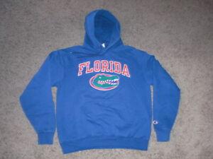 FLORIDA GATORS blue CHAMPION Hoodie Sweatshirt men's Medium