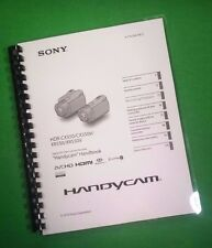 LASER PRINTED Sony XR550 XR550V Handycam Camera 127 Page Owners Manual Guide