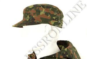 German Flecktarn Camo Camouflage Military Army Cap Hat