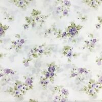 Laura Ashley King sheet set floral sweet mimi purple lilac 100% cotton New