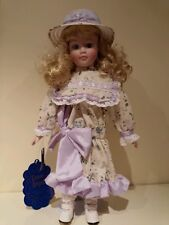"""DYNASTY PORCELAIN DOLL-""""MADELINE""""--HEIGHT 16""""; DOLL STAND INCLUDED -EXCELLENT CO"""