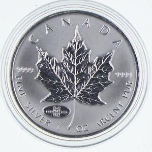 1998 Canada 5 Dollars 1 Oz Silver Maple Leaf Privy Mark World Silver *785