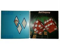 Bad Company Lot Of 2 LP Record Albums Straight Shooter and Rough Diamonds