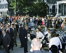 President John F. Kennedy and Jackie arrive for Mass in Newport New 8x10 Photo