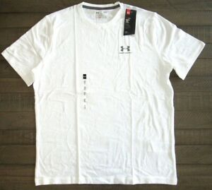 Under Armour Men's Charged Cotton Sportstyle Tee 1257616 White Small to 4xl