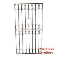 Antique Victorian Iron Gate Window Garden Fence Architectural Salvage Door #346