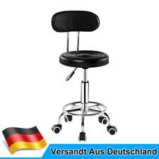 Rollhocker Mit Rückenlehne Arbeitshocker Drehhocker Bürostuhl Kosmetikhocker DE