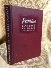 Printing Year Book and Almanac, 1941-42 Antique Fine Binding Reference Book