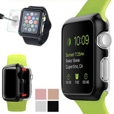 Slim Bumper Metal Frame Case Cover + Hard Protector Film Guard For Apple Watch