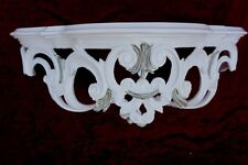 Wall Bracket Console Baroque White Silver 50x20x24 Shelves Antique Mirror Table