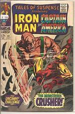 Tales of Suspense # 91 July 1967 Marvel Iron Man Captain America Gene Colan