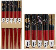 Wholesale Lot 1000 Pairs Bamboo Chopstick Gift Set Japanese Print S-3673x200