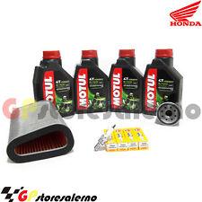 KIT TAGLIANDO 5100 15W50 FILTRO OLIO ARIA CANDELE HONDA 600 CB F HORNET ABS 2012