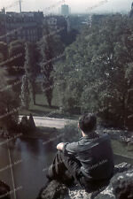 Farb-Dia-Paris-Parc-Buttes-Chaumont-Île-de-France-agfacolor-Bothner-1940-land-4