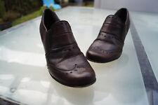 schicke TAMARIS Damen Schuhe Pumps mit Absatz Gr.37 Leder braun vintage TOP *