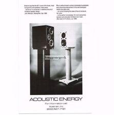 1991 Acoustic Energy AE1 Speakers Stereo Hi-Fi Vtg Print Ad