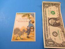 Antique Trade Card J. H. Keating Engraving & Printing 30 Franklin St Boston TC2