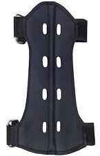 Target Fabric Arm Guard Unisex Size14cm Long x 8cm Archery Products FAG215 BLACK