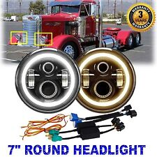 7inch CREE ED Round Headlights H4 H13 Hi/Lo Beam DRL Fit For Peterbilt 379 359