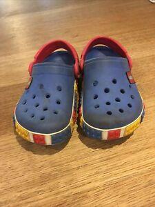 Lego Crocs Size 10-11 C11 Blue Lego Crocs