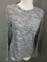 Adidas Size M Womens Gray Athletic Climalite Long Sleeve Training T-Shirt T936