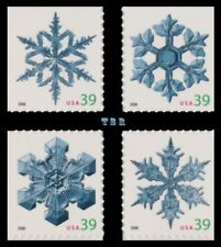 Holiday 2006 Snowflakes 4109-12 4112 Singles 4 From Vending BK303 MNH - Buy Now