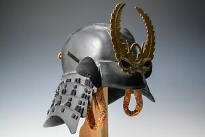 Old Vintage Samurai Tokugawa Kabuto Helmet  -KIDS SIZE WEARABLE- Tsushima