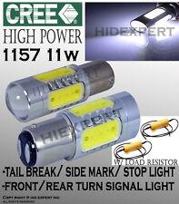 JDM x2 1157 CREE LED Plasma Projector Tail Light/ Break Powerful White BulbsF381