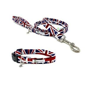 Union Jack Dog Collar, Fully adjustable, Dog Collar and Lead Set
