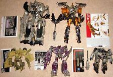 Lot of 5 Transformers Movie 2007 Bonecrusher Jazz Megatron Shockwave Grimlock