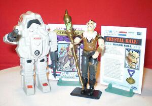 1984 GI JOE COBRA SNAKE S.N.A.K.E. ARMOR & 1987 CRYSTAL BALL OPERATOR RARE ARAH