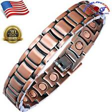 COPPER MAGNETIC GOLF BRACELET MEN WOMEN ARTHRITIS PAIN 20 MAGNETS 3000G A154