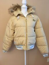 Baby Phat Women's Size XL Puffer Coat Down & Feathers Filled Faux Fur