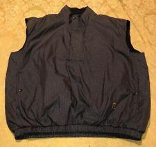 DryJoys FootJoy Golf Wind Rain Pullover Jacket Vest Brown Black Check Men's XL