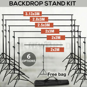 Photography Studio Heavy Duty Backdrop Stand Screen Background Support Stand