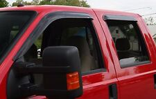 Tape-On Wind Deflectors 2017-2020 Ford Super Duty Regular Cab (2-piece)