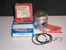 HONDA C50 SS50 +0.5mm OE PISTON + RINGS 036 RiK JAPAN NOS 1201.03A