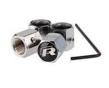 KIT 4 Bouchon de valve Antivol -  VW GOLF R R32 R36-INOX - TUNING - LOGO -