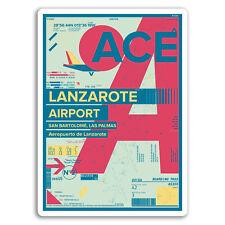 2 x 10cm Lanzarote Airport Vinyl Stickers - Travel Sticker Laptop Luggage #17174