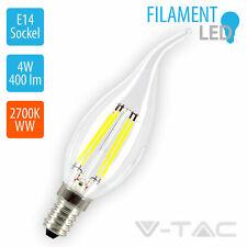 Birne Flamme Kerze LED Glühfaden V Tac 4w E14 Weißlicht heiß 4302