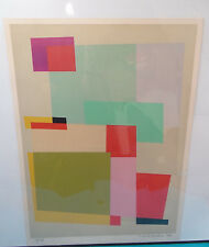 Mid-Century Modern Abstract Lithograph Print Signed Michiel Gloeckner Limited 74
