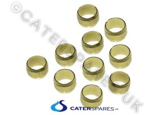 PACK OF 10 X 8MM BRASS COMPRESSION OLIVES FOR GAS PIPEWORK CONEX OLIVE FITTINGS