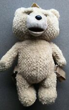 """TED BEAR PLUSH SMALL BACKPACK TALKING EXPLICIT 16"""" - New"""