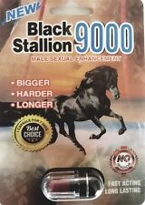 3 Pills BLACK STALLION  9000 Male Enhancement Stimulant Sexual Performance