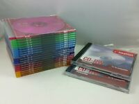 SONY 19 Audio Color CD & Slim Jewel Cases 80mins, and 2 Imation CD RW Audio, NEW